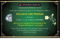 Exclusive Care Program ... A program designed for all Filipinos. Find out, visit us.