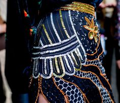 It's all in the sequined details backstage at Rodarte fall 2015 RTW