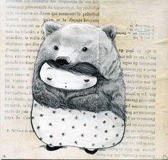 kumakun bear with a matrioska doll heart