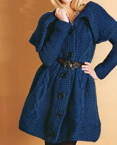 Soft chunky knitted coat
