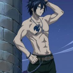 Fairy Tail - Gray Fullbuster. Never knew an animated character could look so good