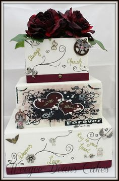 Steam Punk Inspired Wedding Cake | Flickr - Photo Sharing!