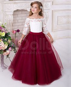 Burgundy Flower Girls Dresses for Weddings 2018 Off Shoulder Long Sleeves Puffy Tulle Girls Party Pageant Dress Burgundy Flower Girls Dresses for Weddings 2018 Off Shoulder Long Sleeves Puffy Tulle Girls Party Pageant Dress Kids Flower Girl Dresses, Vintage Flower Girls, Kids Pageant Dresses, Wedding Dresses For Kids, Little Girl Dresses, Flower Girl Dresses Burgundy, Dresses For Girls, Pageant Gowns, Cheap Dresses