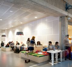 Future Learning Environments by Tengbom Solna Sweden 05 Future Learning… School Library Design, Classroom Design, Eco Architecture, Education Architecture, Learning Spaces, Learning Environments, Corporate Interiors, New Interior Design, Commercial Interiors
