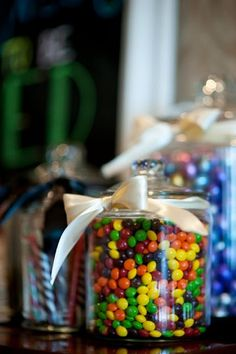 Instead of putting candy on the tables ... I want to have an actual candy table