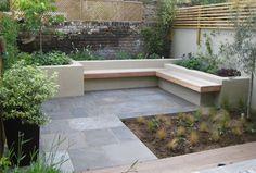 How Does Pergola Provide Shade Code: 8998930578 Small Courtyard Gardens, Small Courtyards, Back Gardens, Small Gardens, City Gardens, Sunken Garden, London Garden, Contemporary Garden, Garden Seating
