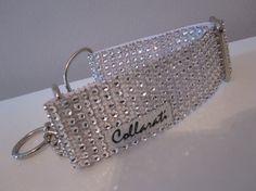 Diamond Bling. 1 1/2 White/ Silver Faux Rhinestones by Collarati, $25.00