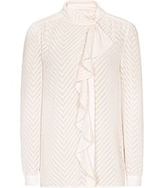 Womens Soft Pink Textured Blouse - Reiss Price