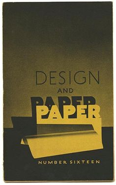 DESIGN AND PAPER No. 16. Walter M. Westervelt [Pictures] and Guy Gayler Clark [text] (circa 1944)
