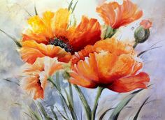 Illustration Art, Illustrations, Floral Paintings, Tattoo Watercolor, Ink Art, Watercolors, Poppies, Leaves, Drawings