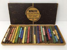 Vintage Eberhard Faber Nupastel Color Sticks Assorted Colors Made In The USA  #EberhardFaber