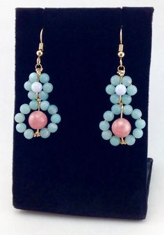 A personal favorite from my Etsy shop https://www.etsy.com/listing/512790621/pastel-earringsbeaded-earringsgemstone
