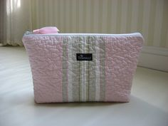 Large Cosmetic Bag Quilted Make Up Bag Waterproof by Trimballe