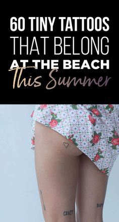 60 Tiny Tattoos That Belong At The Beach This Summer   TattooBlend