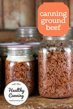 Home canned ground beef is great to have on hand to make tacos from or to add to stir-fried rice casseroles creamed sauces noodle dishes chili etc. Freeze the broth from the jar; its essentially pure beef stock and is great for soups. Home Canning Recipes, Canning Tips, Beef Recipes, Cooking Recipes, Dehydrated Food Recipes, Canning Soup, Oven Canning, Jelly Recipes, Recipies