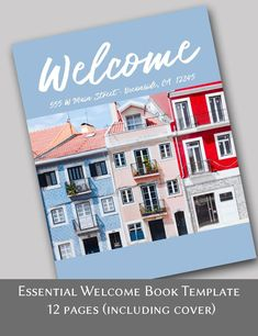 Essential Vacation Rental House Manual, 12 pages including cover editable with Corjl for airbnb, vrbo, homeaway. Rental welcome book. Rental Decorating, Decorating Tips, Rental Space, Welcome Letters, Edit Online, Delete Image, Vacation Home Rentals, Web Application, Letter Size
