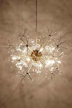 Dandelion Orbit Chandelier - looks like fireworks! anthropologie.com