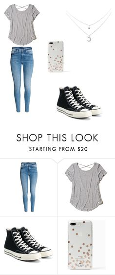 """""""Untitled #5"""" by dessyhart ❤ liked on Polyvore featuring Hollister Co., Converse and Kate Spade"""