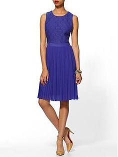 Pim + Larkin Kensington Lace Chiffon Dress | Piperlime (Not sure about the color...but cute!)