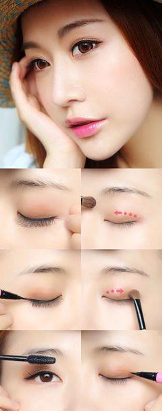Trendy Makeup Simple Asian Make Up Ideas Make Up Looks, Asian Make Up, Eye Make Up, Natural Lips, Natural Makeup, Asian Makeup Tutorials, Ulzzang Makeup, Asian Eye Makeup, Japanese Makeup