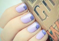 Wedding Day Nails! #Bellashoot #Nailart #Purple Nails