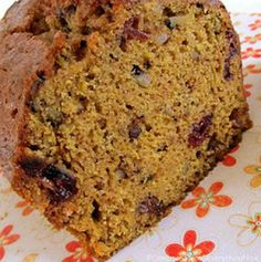 Pumpkin Spice Bread (Packed full of pumpkin flavor, walnuts & cranberries with a fragrant, spicy aroma, this is the stuff pumpkin dreams are made of.) by Cinnamon Spice and Everything Nice