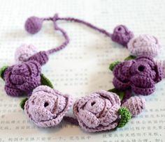 Crochet Patterns: botões Crochet Colar Primavera