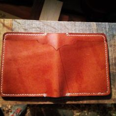 Handmade Mens Horween Leather Wallet.