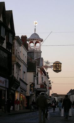 Moon on Guildhall, Guildford, Surrey, 9th January 2009 by Guildford Ghost, via Flickr