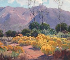 Hanson Puthuff (1875-1972). Desert Bloom, Oil on canvas, 26 x 30 in.