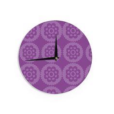 "Nicole Ketchum ""Moroccan Purple"" Wall Clock"