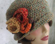 Womens Crochet Hat Pattern Flapper Cloche With par kalliedesigns