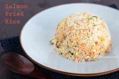 Salmon Fried Rice  healthy and easy and takes just minutes to fix.   ( I used left over brown rice and 1- 5 oz pouch pink salmon)