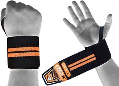 Prohand Weightlifting Gym Gloves Gym Straps  Power Lifting Wrist Support L