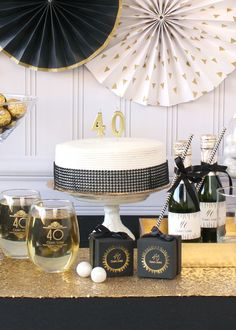 Celebrate The Big Birthday With An Elegant Party Shop The Collection Of Milestone Favors