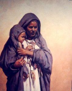 Africa   Tuareg woman. Algeria   Painting by Reda Dennoun