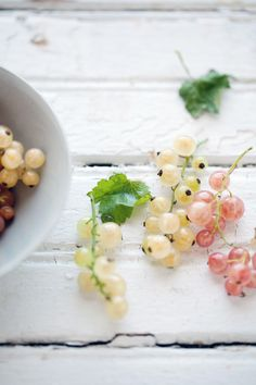 red white champagne currants - these are delicious! and everywhere in Germany :) I miss them