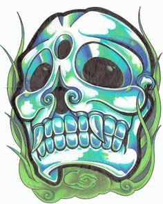 Random Skull drawing