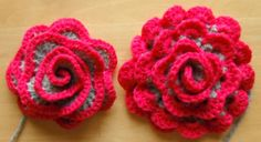 two versions crocheted flowers