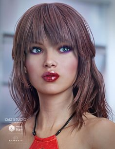 Paisley Hair For Genesis 3 Female S Is A Long Mid Length Daz Studio Or Poser Created By Originals And