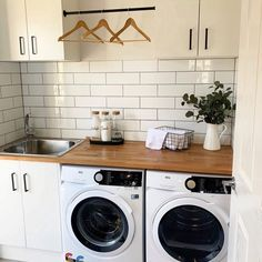 Modern Laundry Rooms, Laundry Room Layouts, Laundry Room Remodel, Laundry Decor, Laundry Room Design, Laundry In Bathroom, Laundry In Kitchen, Small Laundry Space, Ikea Laundry