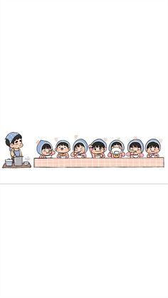 Kyungsoo, Chanyeol, Exo Cartoon, Exo Lockscreen, Exo Fan Art, Exo Kai, Aesthetic Photo, Chibi, Stud Earrings