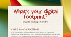 """What is a digital footprint? On the Internet a digital footprint is the word used to describe the trail, traces or """"footprints"""" that..."""