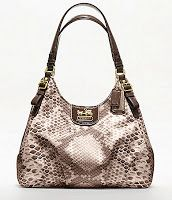 Coach Madison Python Print Maggie Shoulder Bag 19843