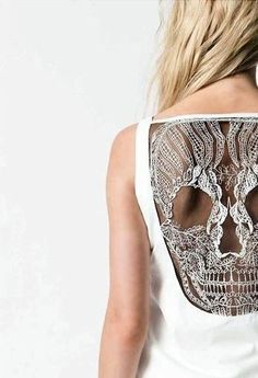 Urban Outfitters Skull Back Tee