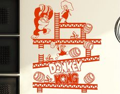 . Vinilo decorativo videojuegos Donkey Kong 04508