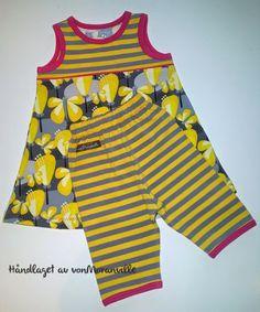 Sommerlig kjole og kort bukse. Lillestoff. / Dress and short trousers for summer. Lillestoff Handmade Dresses, Dresser, Shorts, Blouse, Tops, Fashion, Tunic, Summer, Moda