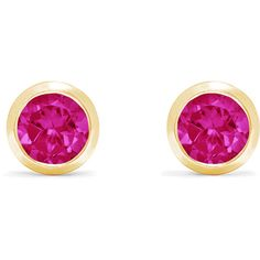 Effy Jewelry Effy Ruby Royale 14K Yellow Gold Ruby Stud Earrings, 1.14... ($805) ❤ liked on Polyvore featuring jewelry, earrings, gold earrings, ruby jewelry, 14 karat gold earrings, gold ruby earrings and stud earrings
