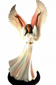 Exalt his Name African Angel Figurine