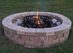 ...  lay out the first course of blocks to find the size of your fire pit and establish where the sod and soil will be removed to construct the base. Description from allanblock.com.au. I searched for this on bing.com/images